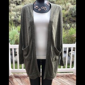 ⚡️Final Price⚡️ Preloved L green open cardigan
